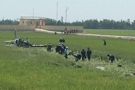 Rơi máy bay huấn luyện quân sự tại Phú Yên, 2 người thương vong