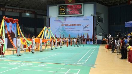 Khai mạc Giải cầu lông CNVCLĐ toàn quốc - Cúp Báo Lao Động: Ngày hội thể thao của người lao động