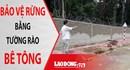 NÓNG 24H: Bảo vệ rừng tại Kon Tum bằng tường rào bê tông gây tranh cãi