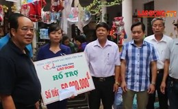 Quỹ XHTT Tấm lòng Vàng Lao Động cứu trợ lũ lụt tại Hà Tĩnh