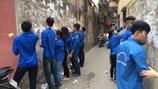 300 thanh niên tham gia vệ sinh cho Thủ đô nhân dịp nghỉ lễ Giỗ Tổ