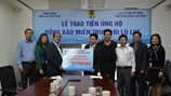 Công đoàn Điện lực Việt Nam ủng hộ đồng bào vùng lũ