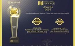 """SEABANK nhận giải """"Ngân hàng có dịch vụ thẻ tín dụng sáng tạo nhất 2016"""""""