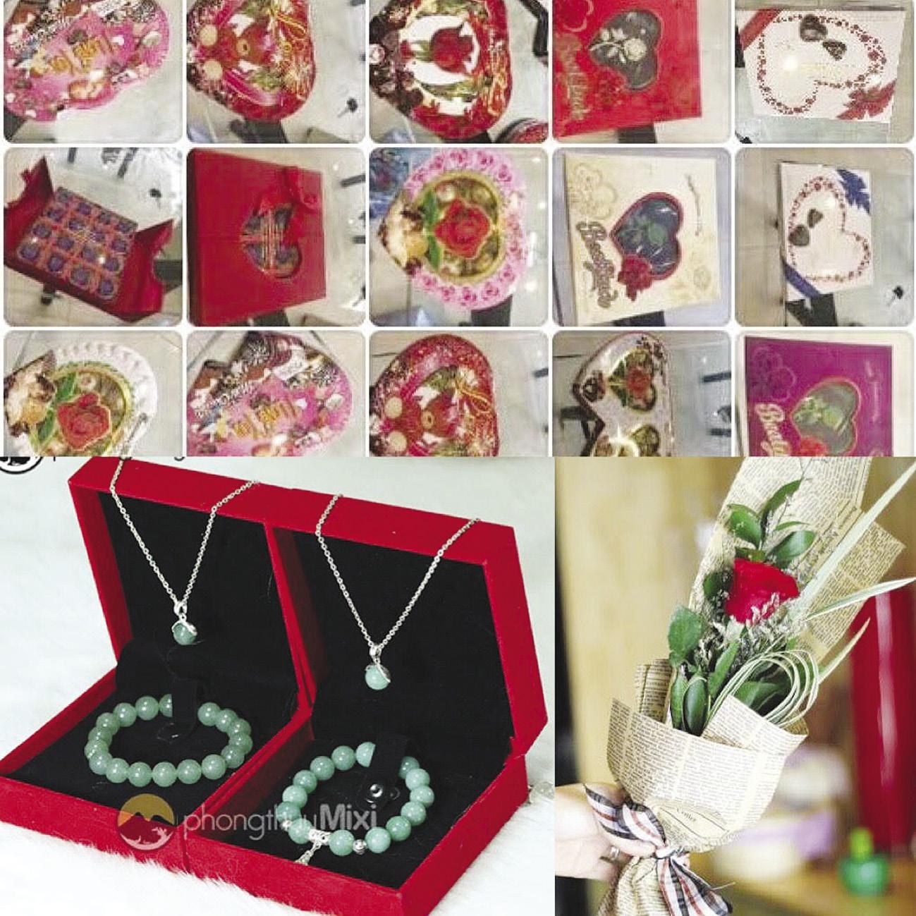 Dịp lễ tình nhân Valentine: Nhiều món quà độc, lạ hút khách!
