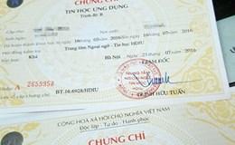 Từ phản ánh của Báo Lao Động: Bộ GD&ĐT dừng cấp phôi chứng chỉ tin học từ 15.12