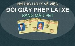 Có phải đổi GPLX từ chất liệu bằng giấy sang chất liệu PET?