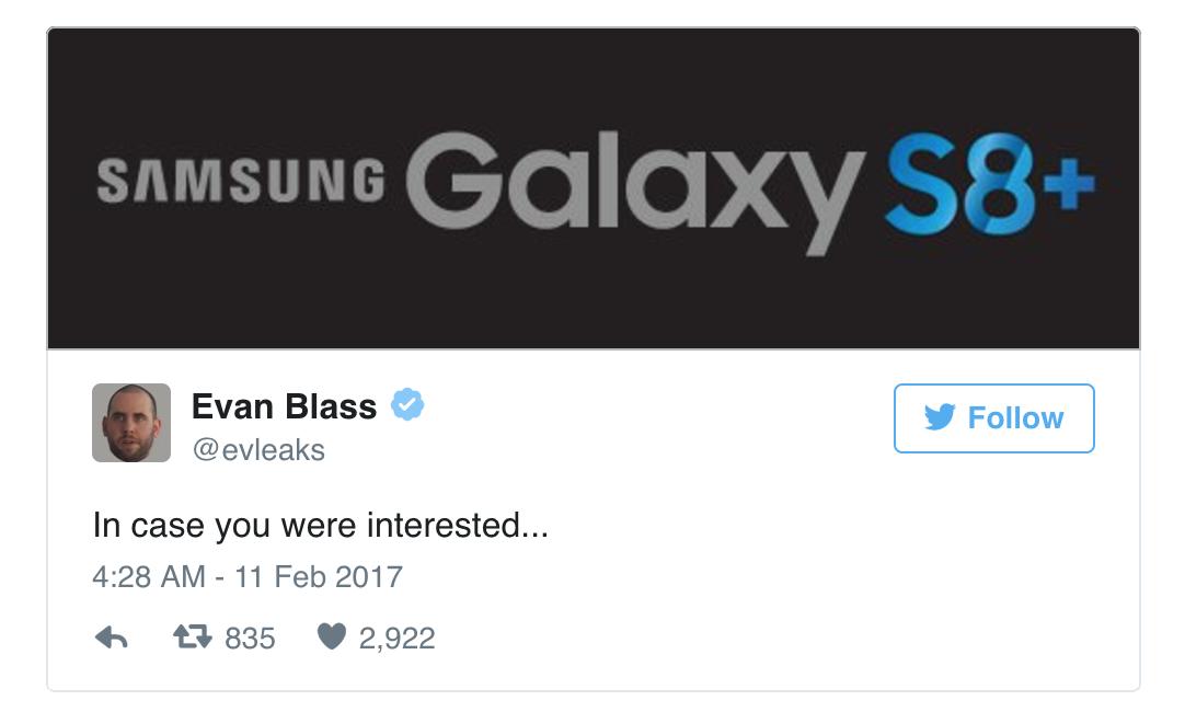 Sẽ có phiên bản Samsung Galaxy S8 Plus ra mắt ngày 29.3?