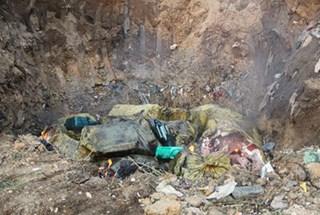 """Dân hoang mang vụ cả tấn nầm lợn thối """"bốc hơi"""" sau khi tiêu hủy ở Bắc Giang"""
