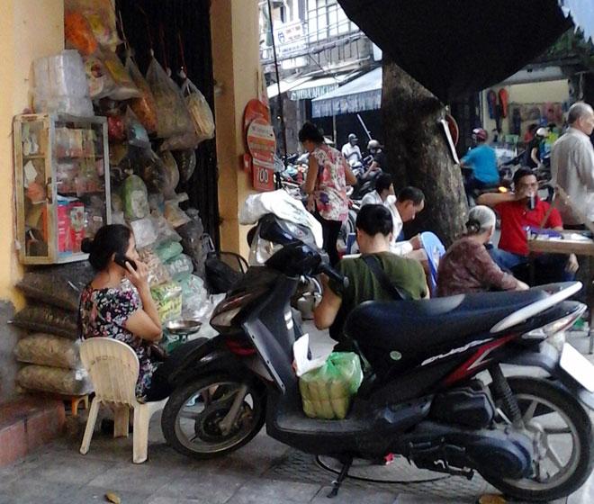 """Nhau thai khô hay còn gọi là """"tử hà sa"""" được bán trá hình tại một số hàng thuốc đông y ở phố Lãn Ông, Thuốc Bắc (Hà Nội)..."""