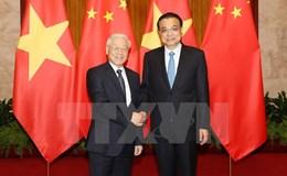Tổng Bí thư hội kiến Thủ tướng Trung Quốc