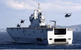 Pháp điều chiến hạm Mistral hùng mạnh thị uy Trung Quốc