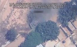 Hình ảnh xe tăng IS tan tành vì trúng đòn không kích của phi cơ Mỹ