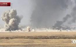 Video: Khoảnh khắc xe bom IS tấn công làm nổ tung xe tăng Iraq