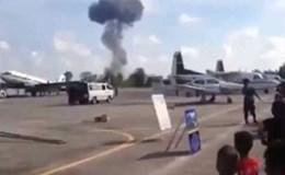 Video: Phi cơ chiến đấu Thái Lan rơi khi đang biểu diễn trước trẻ em
