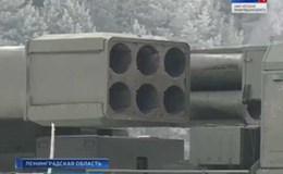 Hệ thống tên lửa đa nòng Uragan-1M lộ diện trong cuộc tập trận