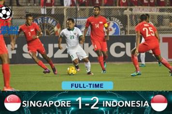 Video: Lội ngược dòng cảm xúc trước Singapore, Indonesia giành vé vào bán kết
