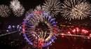Mãn nhãn với gần 15 phút pháo hoa rực rỡ trên bầu trời London chào năm mới 2017
