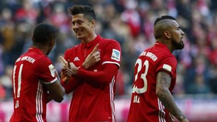 Bayern vùi dập không thương tiếc Hamburg 8 - 0