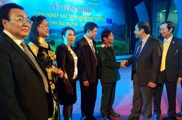 Tỉnh Thái Nguyên tôn vinh 59 doanh nghiệp xuất sắc và doanh nhân tiêu biểu