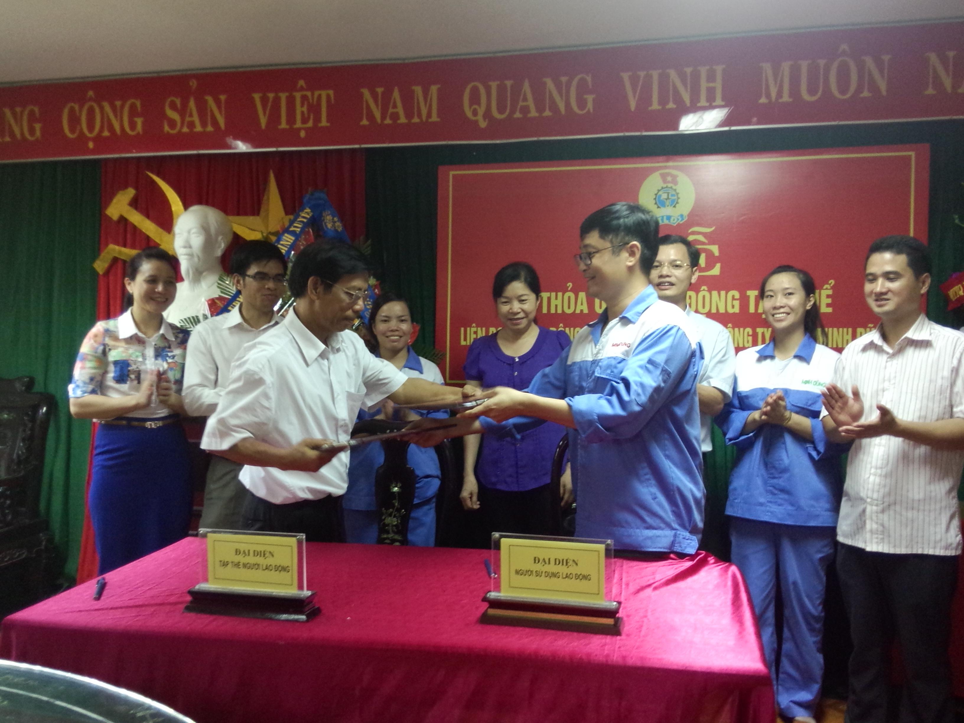LĐLĐ huyện Bình Xuyên : Ký TƯLĐTT tại doanh nghiệp chưa có tổ chức công đoàn