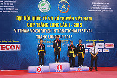 Việt Nam nhất toàn đoàn tại Đại hội quốc tế Võ cổ truyền