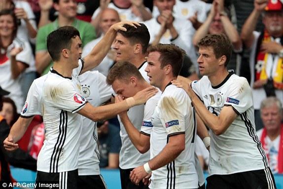 Tuyển Đức giành ngôi đầu bảng. Ảnh: Daily Mail