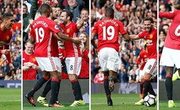 Rooney dự bị, M.U thắng tưng bừng Leicester City