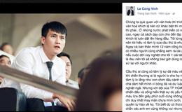"""Sau Thuỷ Tiên, đến lượt Công Vinh lên facebook """"đáp trả"""" dư luận"""