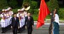 Chủ tịch nước Trương Tấn Sang đón và hội đàm với Tổng thống Nga
