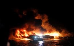 Clip: Cháy đỏ trời thiêu rụi hơn 70 căn nhà chồ ở Nha Trang