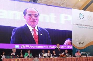 Chủ tịch Đại hội đồng IPU 132 Nguyễn Sinh Hùng: Tập trung giải quyết các vấn đề bất bình đẳng, chống đói nghèo, biến đổi khí hậu...