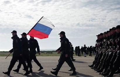 Cận cảnh hàng nghìn binh sĩ Nga diễu hành mừng ngày Chiến thắng