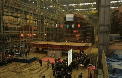 Bên trong nhà máy chế tạo siêu tàu chiến Mistral của Pháp