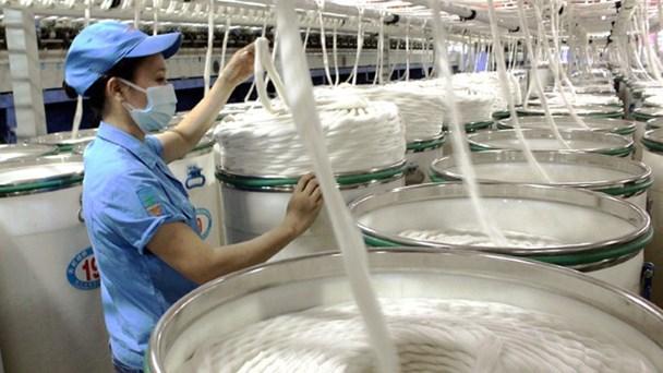 Dây chuyền sản xuất sợi tại Cty TNHH Texhong Ngân Long (Trung Quốc) - KCN Hải Yên (TP.Móng Cái). Ảnh: CAO QUỲNH