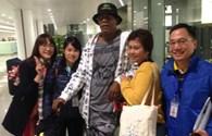 Đoàn làm phim King Kong 2 đến  sân bay Nội Bài