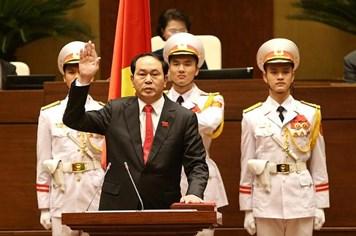 Clip Tân Chủ tịch nước Trần Đại Quang tuyên thệ trước Quốc hội