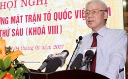 Tổng Bí thư Nguyễn Phú Trọng: Mặt trận phải là nơi để người dân tố giác những người tiêu cực