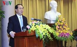 Chủ tịch nước Trần Đại Quang dự buổi gặp mặt truyền thống 4 Văn phòng