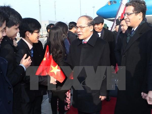 Chủ tịch Quốc hội bắt đầu thăm hữu nghị chính thức Trung Quốc