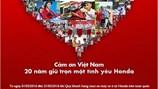 Honda Việt Nam tri ân khách hàng nhân dịp kỷ niệm 20 năm thành lập