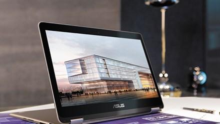 ZenBook có khả năng xoay gập 360 độ siêu mỏng chỉ nặng 1,3kg