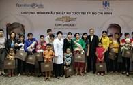 Tài trợ chi phí đi lại, ăn ở, phẫu thuật dị tật hàm mặt cho 70 trẻ