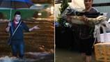 Sao Việt bì bõm lội nước sau trận mưa lớn ngập chìm TPHCM