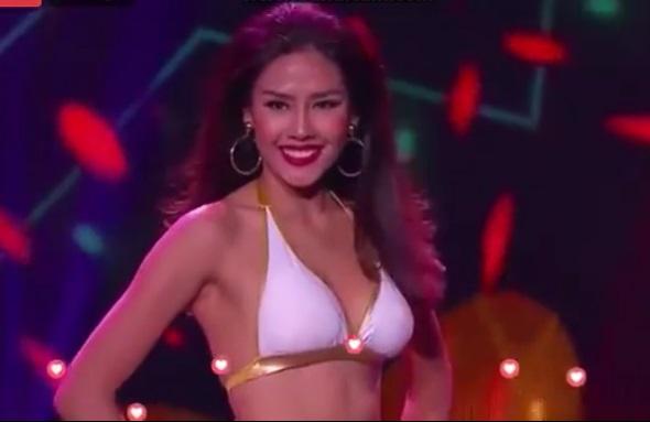 Video: Nguyễn Thị Loan trình diễn bikini xuất sắc tại Hoa hậu Hòa bình quốc tế