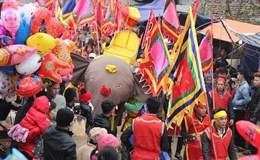 Độc đáo và lạ mắt lễ hội rước voi đình Đào Xá