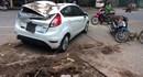 Hà Nội: Cây phượng cổ thụ đổ đè bẹp ô tô giữa phố