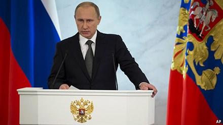 Ông Putin đọc thông điệp liên bang: Gián đoạn quan hệ Nga - Mỹ sẽ dẫn tới thảm họa - ảnh 1