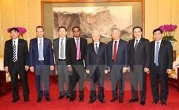 Tổng Bí thư Nguyễn Phú Trọng tiếp lãnh đạo doanh nghiệp Trung Quốc