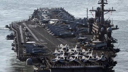 Trung Quốc và Nga cử tàu do thám bám sát tàu sân bay Mỹ