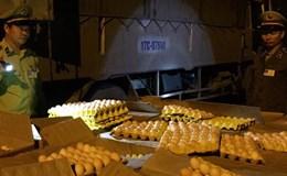 Quảng Ninh: Chặn bắt xe tải chở gần 25.000 quả trứng gà nhập lậu